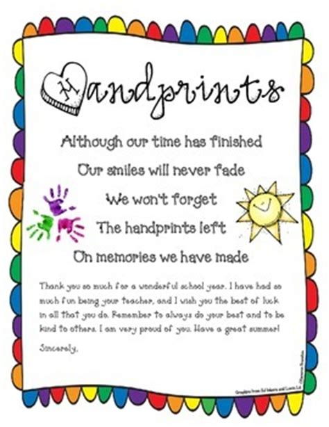 Thank You Letter To Kindy End Of Year Kindergarten Poems End Of The Year Poem Goodbye Letter Freebie Kindergartenklub