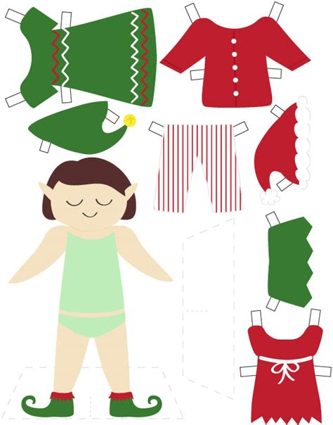printable elf girl best photos of elf doll pattern printable template free