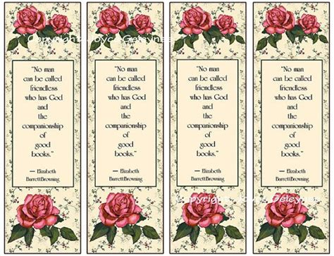 printable bookmarks vintage printable bookmarks roses vintage look quote from by