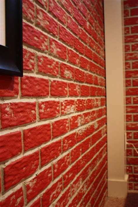poured basement painted to look like brick basement 30 best images about paint this house on pinterest blue