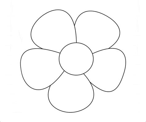 flower templates printable flower template free templates free premium templates