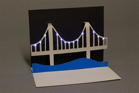 How To Make A Paper Bridge - paper circuits the tinkering studio