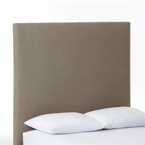 tall fabric headboards tall simple upholstered headboard west elm