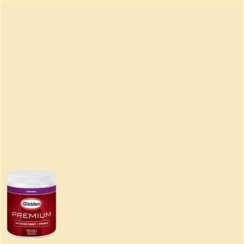 glidden premium 8 oz hdgy31 yellow eggshell interior paint with primer tester hdgy31p