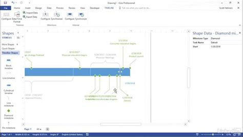 visio timeline tutorial build a timeline from a project plan
