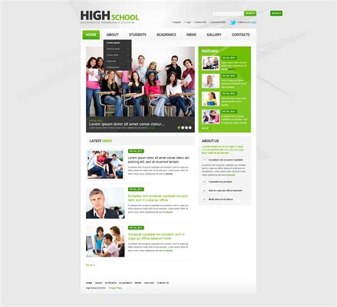 university website templates university responsive website template 44398