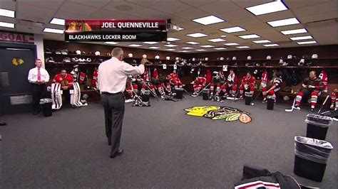 Chicago Blackhawks Dressing Room nbc pre claude julian speech bad audio version 6
