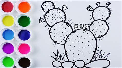 imagenes para videos dibuja y colorea cactus de arco iris videos y dibujos