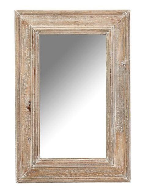 shabby chic distressed mango wood framed mirror 60 x 90