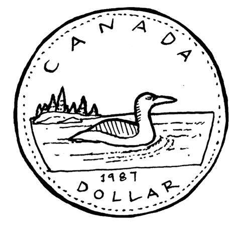 Coin Outline Clip by Canada Clipart Loonie Pencil And In Color Canada Clipart Loonie