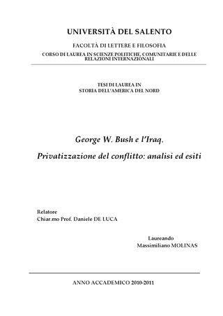 george w bush e l iraq privatizzazione conflitto