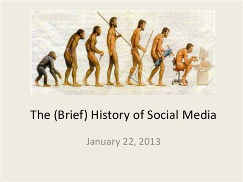 the historiography of the the brief history of social media