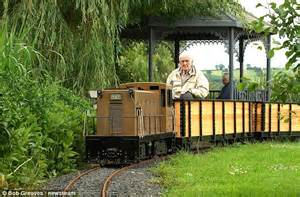 backyard trains you can ride pensioner obsessed by trains forks out 163 22 000 on his own