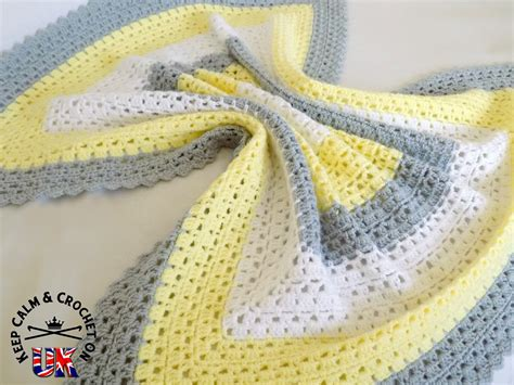crochet pattern free uk free pattern superbly simple baby blanket keep calm
