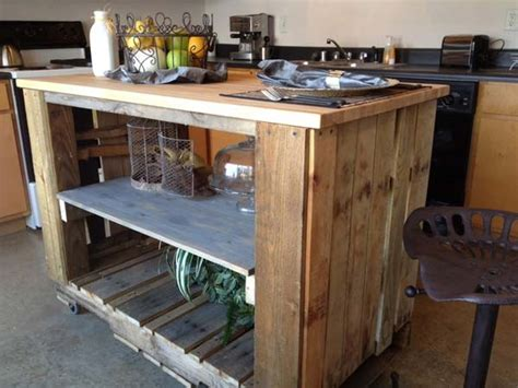 reclaimed pallet kitchen island 40 fantastic ways of how to reuse wooden pallets amazing diy interior home design