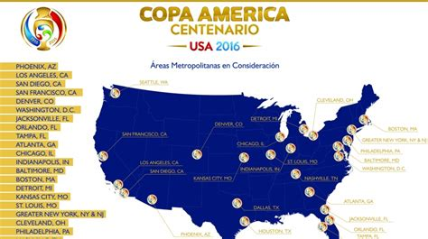 Calendario 4 De Copa America Copa Am 233 Rica Centenario 2016 Grupos Torneo En Estados