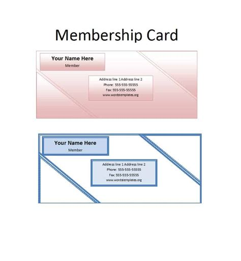 Membership Dues Card Template by 25 Cool Membership Card Templates Designs Ms Word