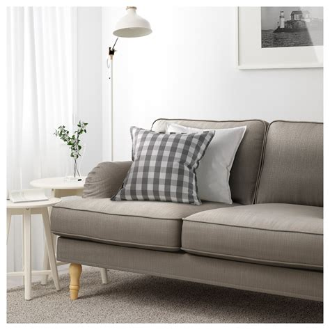 Brown And Grey Sofa Stocksund Three Seat Sofa Nolhaga Grey Beige Light Brown