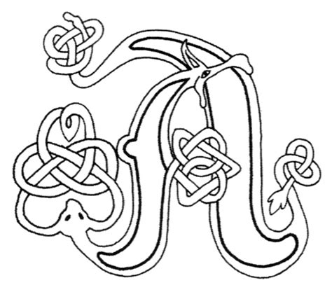 Celtic Letter Coloring Page | celtic letters yahoo image search results fonts