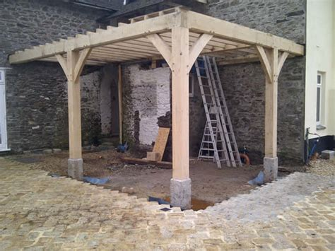 Cornwall Patio Arbor Traditional Oak Timber Frame Manufacture