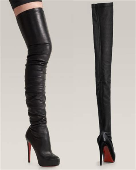 christian louboutin thigh high studded boots