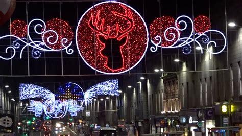 aberdeen christmas lights 2016 on union street youtube