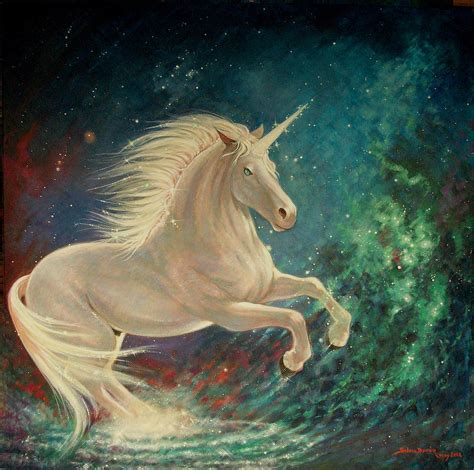painting unicorn cosmic unicorn painting by duran