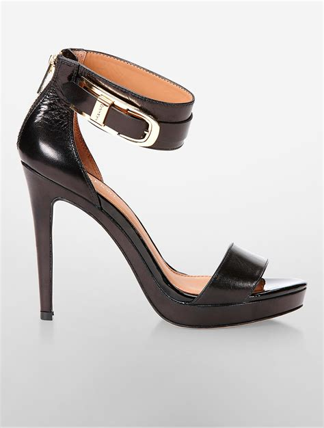 calvin klein high heels calvin klein panthea high heel sandal in black lyst