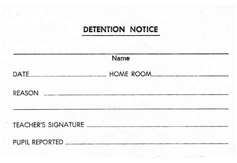 detention notice template image gallery detention slip