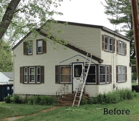 before after a modern cottage laurel s blah brown house gets curb appeal hooked on houses