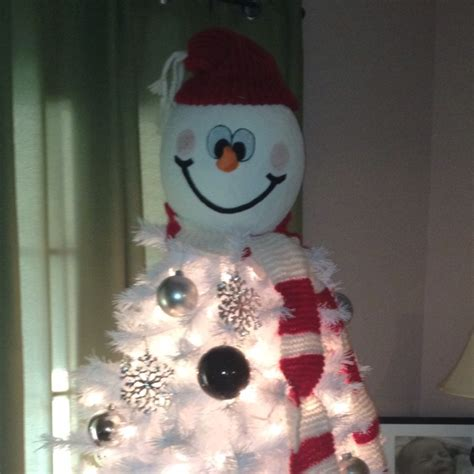 snowman tree topper we wish you a merry christmas