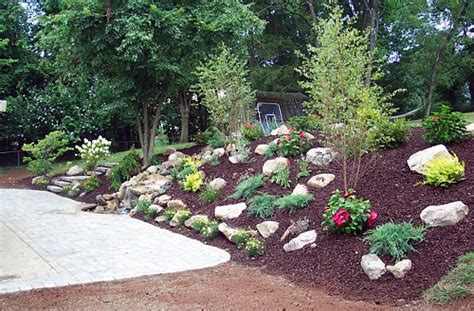 landscaping ideas for hills triyae com backyard hill makeover various design