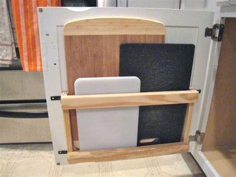 cutting board storage ideas  pinterest small kitchen storage kitchen ideas