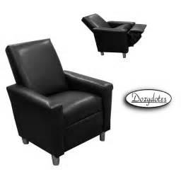 modern recliner black leather like ship