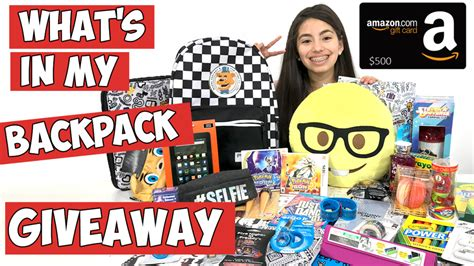 Backpack Giveaway 2017 - what s in my backpack 2017 giveaway 500 amazon giftcard kidtoytesters com