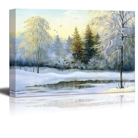 canvas prints wall art beautiful winter landscape