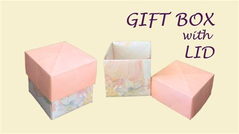 How To Make Paper Gift Boxes With Lid - diy easy origami gift box with lid cube box cool