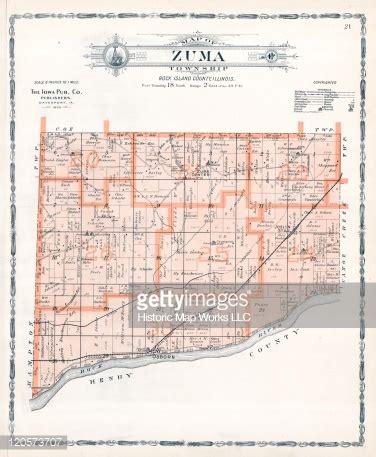 Rock Island County Search Illinois 1905 Zuma Township Joslin Station Rock Island County Stock Illustration