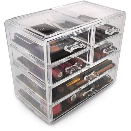 sorbus acrylic 5 drawer with sectional organizer acrylic drawer makeup organizer with removable drawers