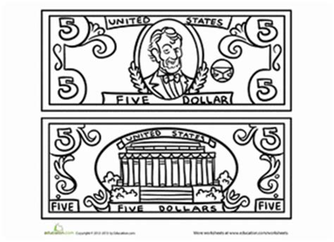 coloring 100 dollar bill alltoys for