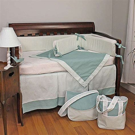 houndstooth crib bedding houndstooth aqua crib bedding set by hoohobbers