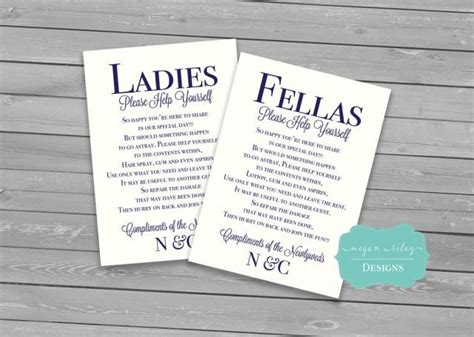 Wedding Bathroom Basket Sign Wedding Bathroom Basket Printable Males Females Guest Bathroom Sign Wedding Print Custom