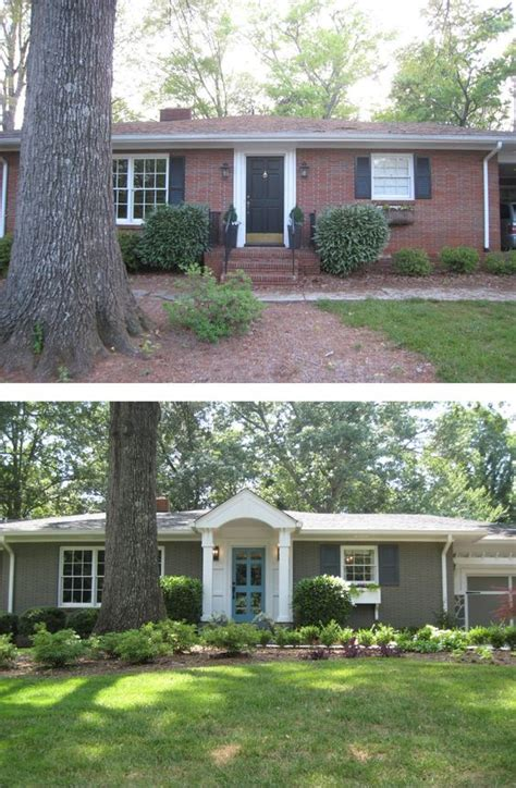 ranch style trim before after painted brick ranch style home brick sherwin williams backdrop 7025 trim
