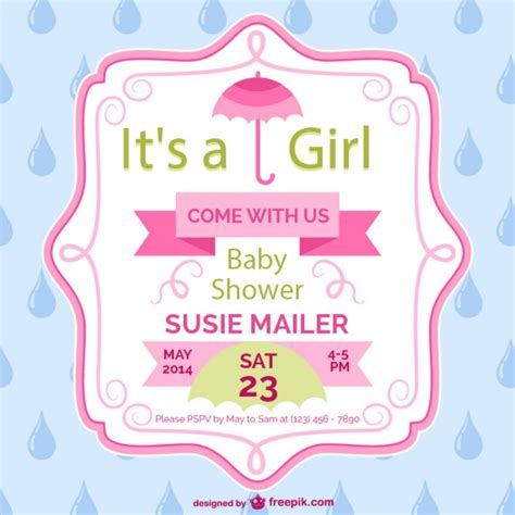 it s a wonderful card template baby shower card template design vector free