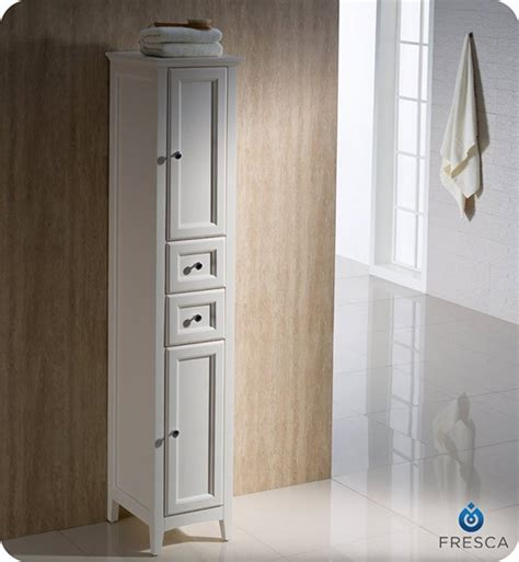 fresca oxford 14 quot traditional bathroom tall linen side