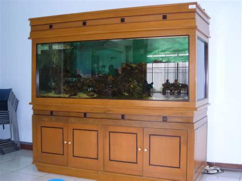 Lemari Aquarium meja aquarium jati minimalis