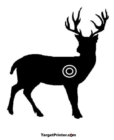 printable animal rifle targets printable large deer shooting target