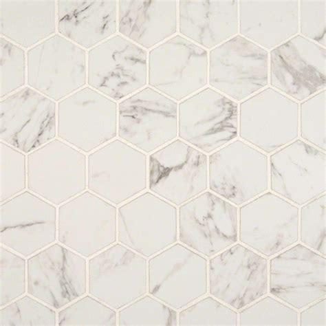 carrara 2 in x 2 in hexagon matte porcelain mosaic tile