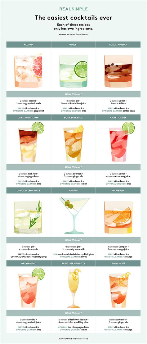 easy cocktails 12 easy cocktails with just 2 ingredients real simple
