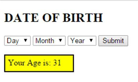wedding date calculator based on date of birth how to calculate age from date of birth using php free
